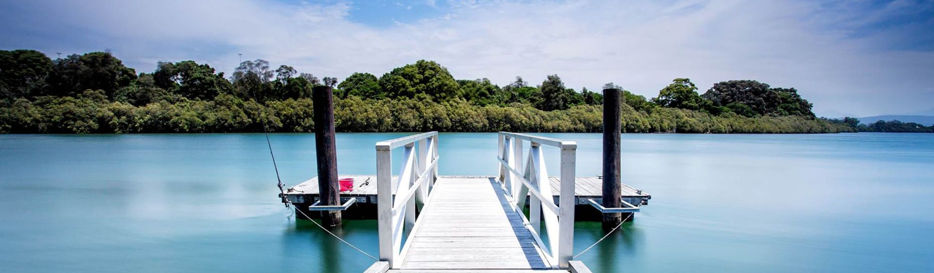 Jetty on the Bellinger River estuary in Urunga, near Coffs Harbour