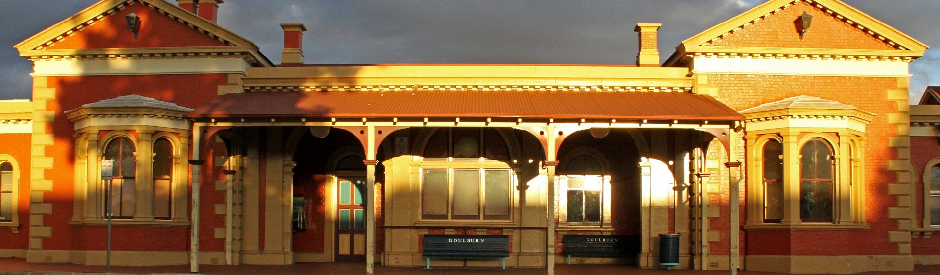 The heritage-listed Goulburn Railway Station, built in the 1860s