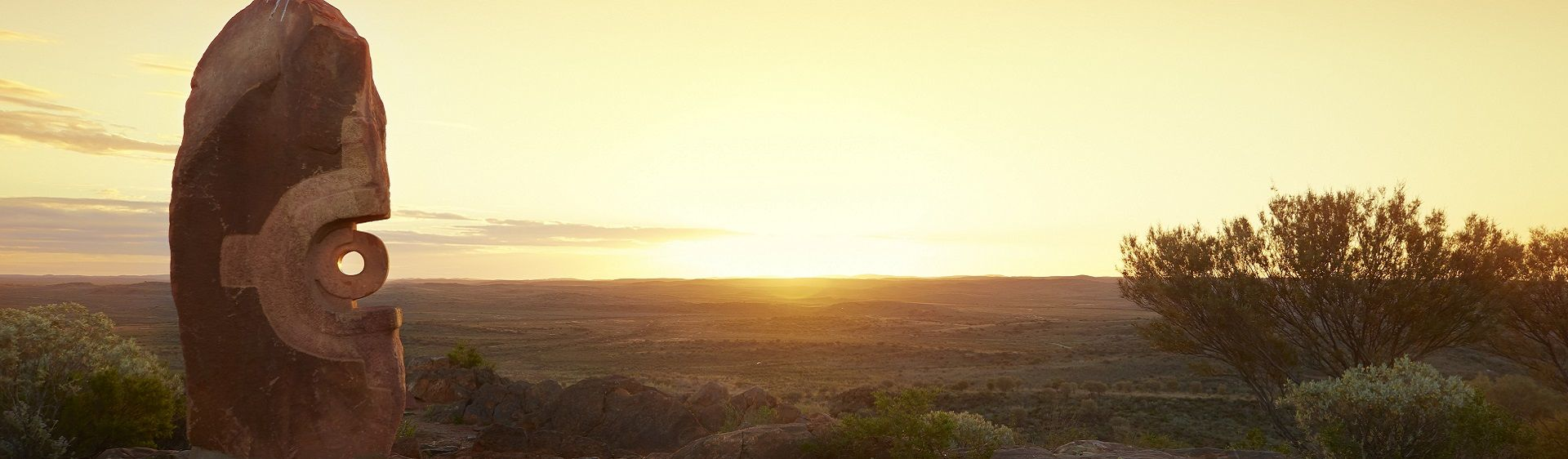 Scenic sunrise in Broken Hill