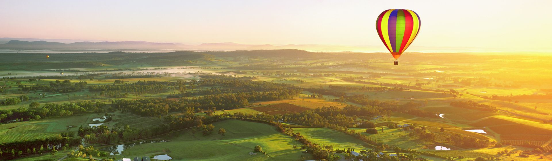 Hot air ballooning in the beautiful Hunter Valley region of NSW