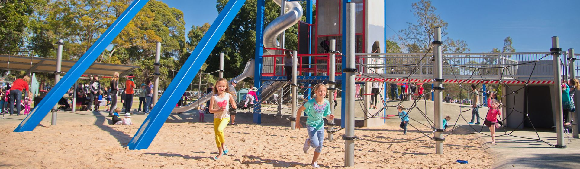 Kids having fun at Lake Macquarie Variety Playground