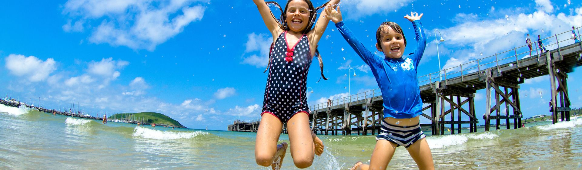 Kids having fun at Jetty Beach, Coffs Harbour