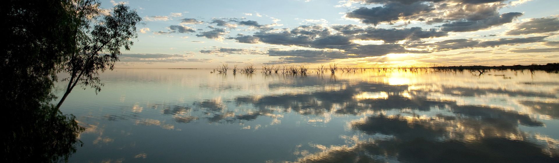 Lake Menindee sunset strip