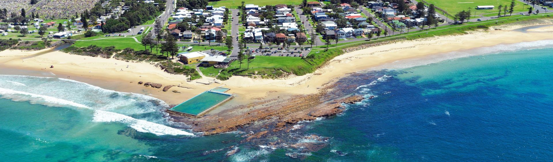 Aerial of Bulli Beach - Wollongong City Tourist Parks