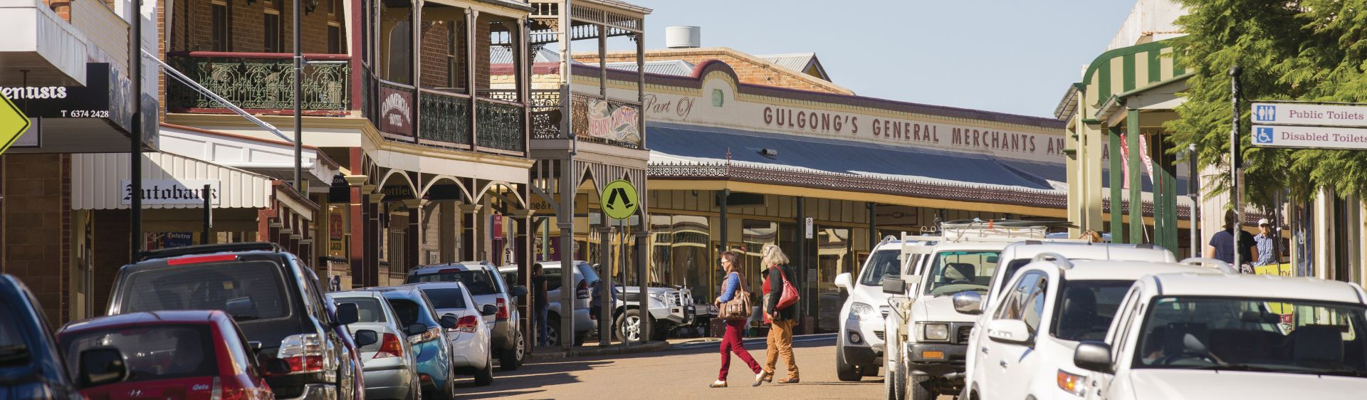 A beautiful heritage streetscape in Gulgong, Mudgee wine region