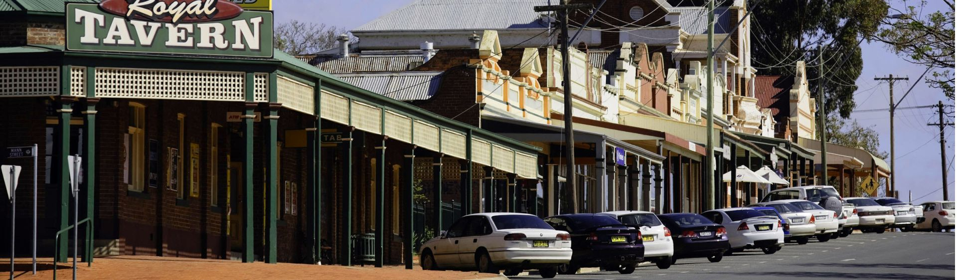 Scenic view of Coolamon's heritage streetscape, in the Riverina, NSW