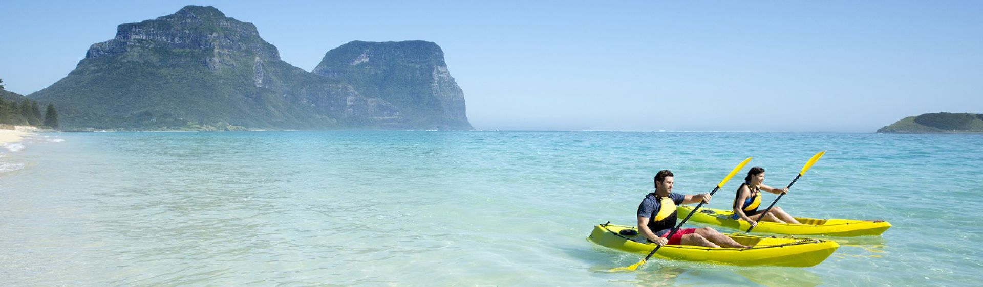 Kayak by Lagoon Beach on Lord Howe Island