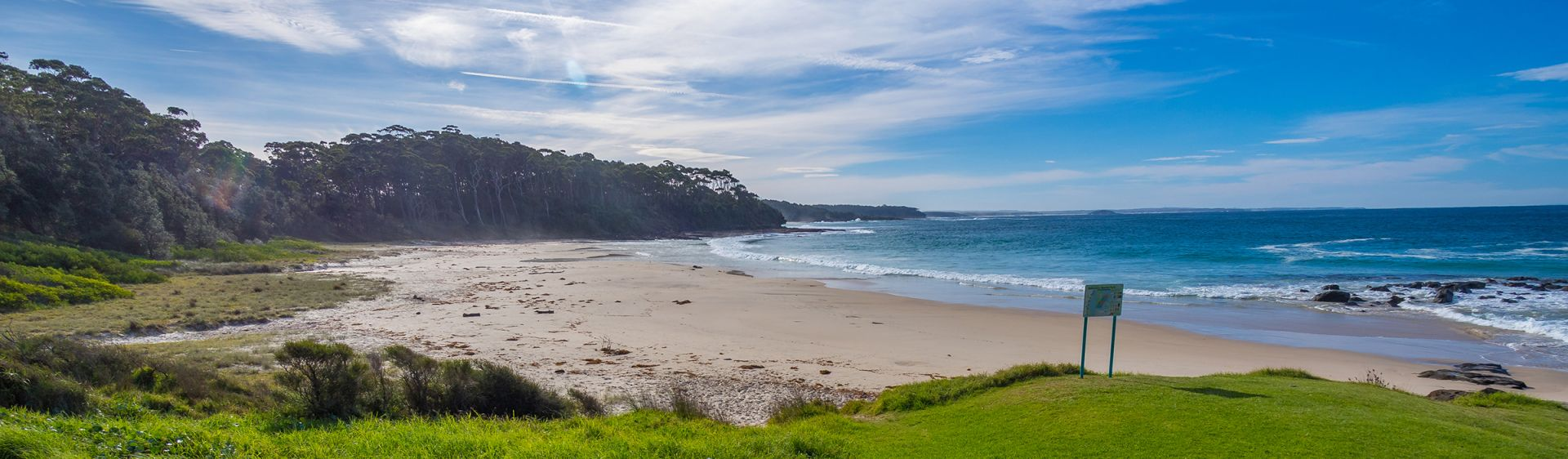The beautiful Bawley Beach, home to two popular surf breaks in Shoalhaven