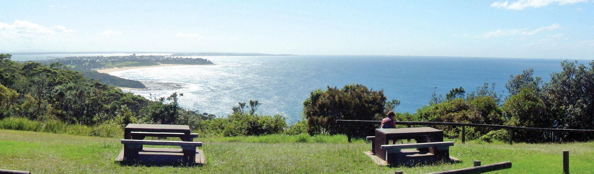 View from Crackneck Point Lookout at The Entrance on the NSW Central Coast