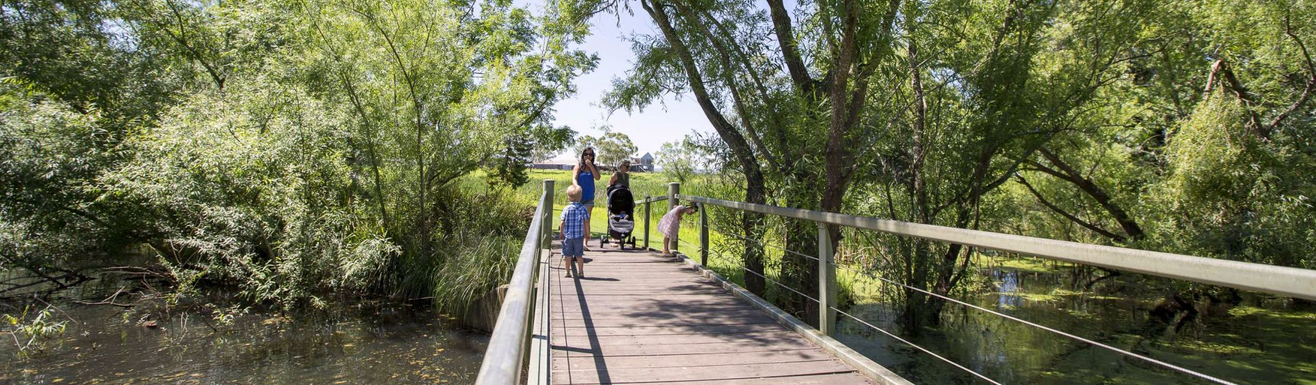 Family enjoying the Hunter River near Maitland, in the NSW Hunter region
