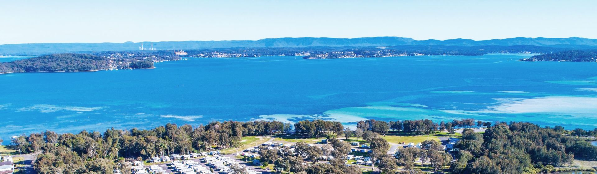 Aerial view of Swansea Channel, Lake Macquarie
