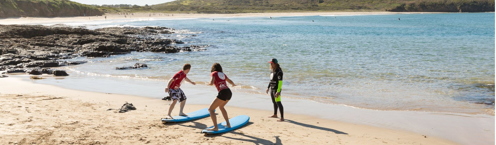 Surf lesson at The Farm, Killalea State Park, Shellharbour, South Coast NSW