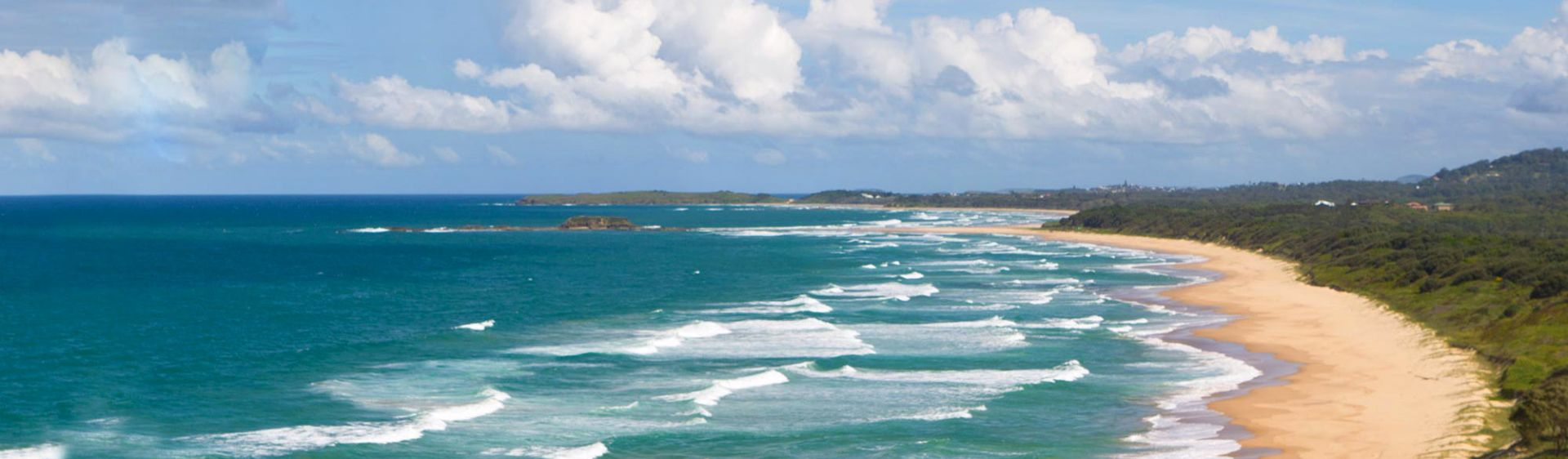 The view from Woolgoolga Headland looking across Coffs Coast Regional Park, NSW, Australia