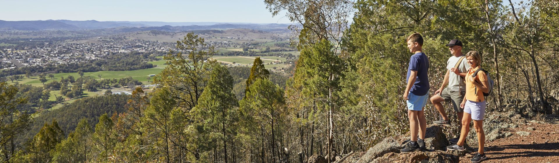 View of Wellington from Mount Arthur Reserve, near Dubbo, NSW