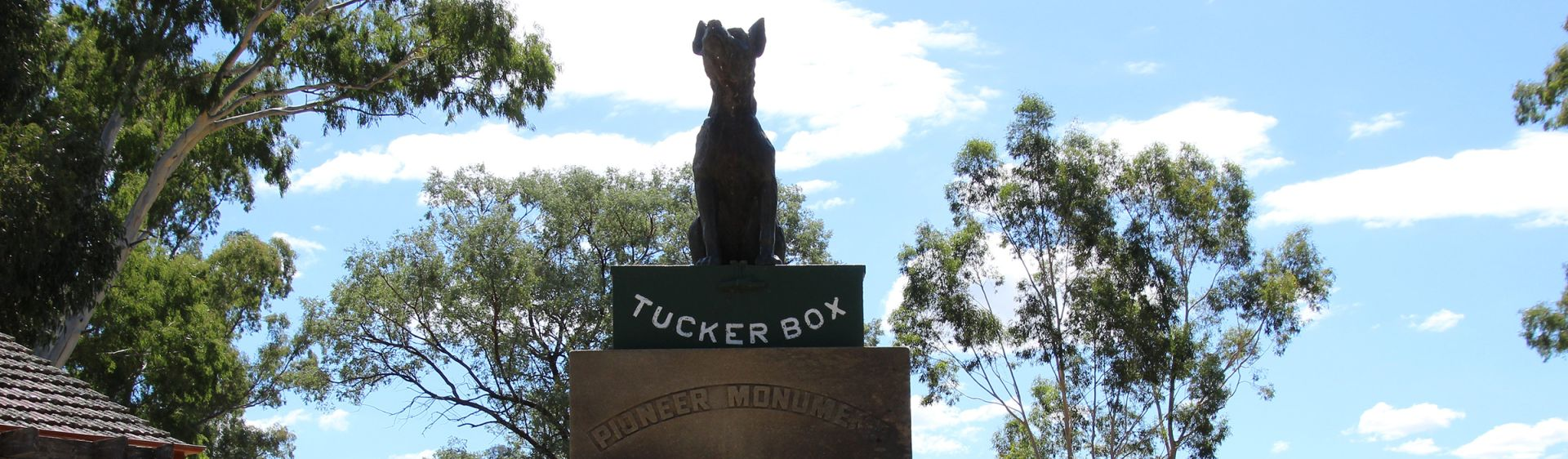 Dog on the Tuckerbox statue in Gundagai, Riverina, NSW