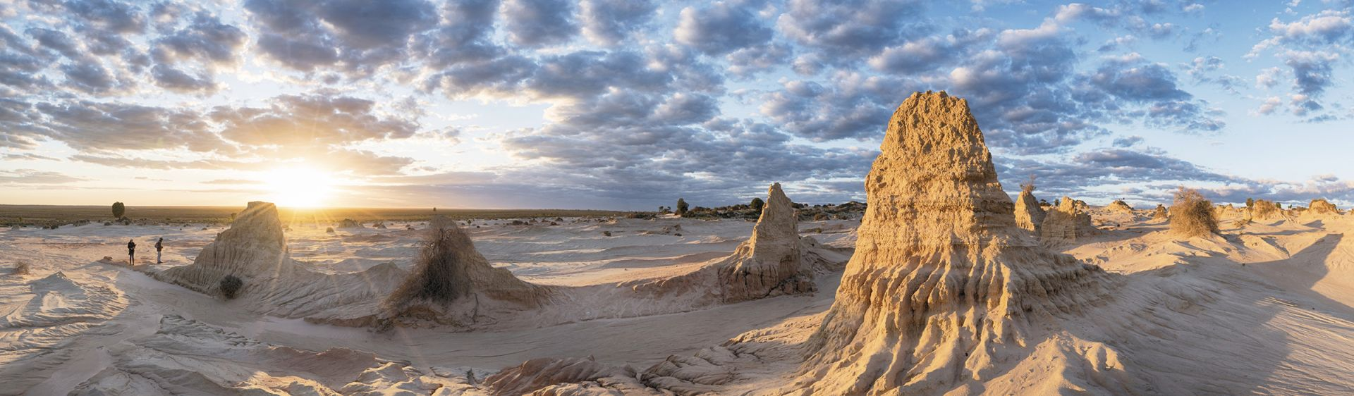 The spectacular Walls of China rock formations in Mungo National Park