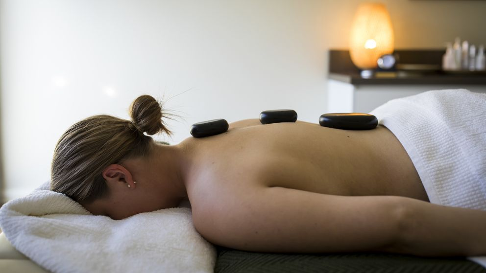 Woman enjoying a spa treatment at Ubika Day Spa inside the Fairmont Resort & Spa, Leura in the Blue Mountains