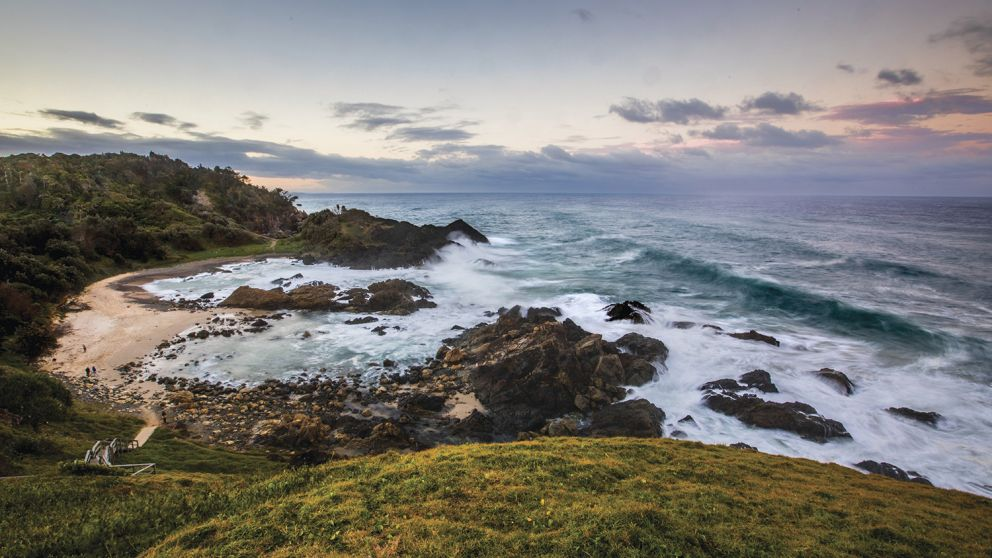 Scenic views across the Port Macquarie coastline