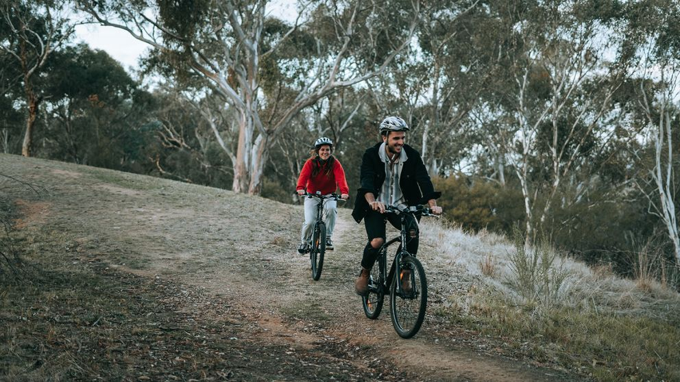 Mountain biking in The Murray, Country NSW