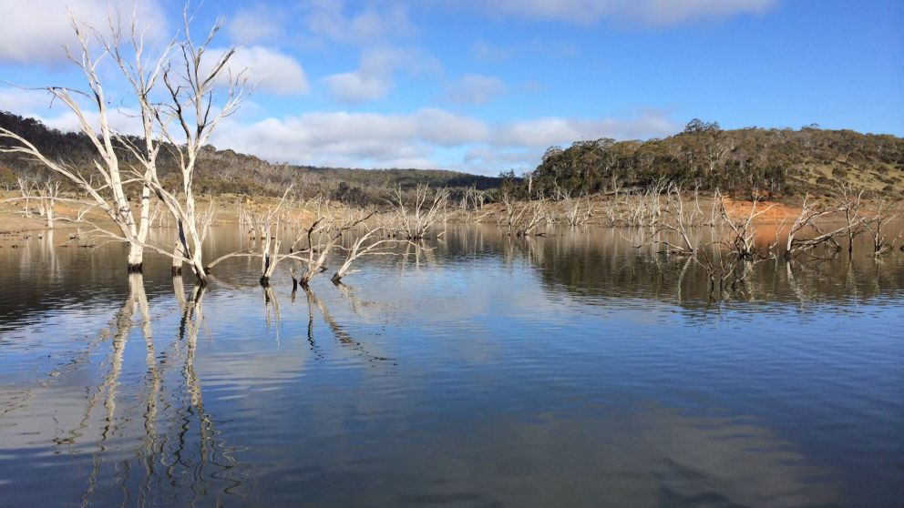 Lake Eucumbene in Adaminaby, Cooma Area, Snowy Mountains