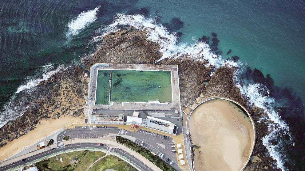 Newcastle Ocean Baths in Newcastle, North Coast