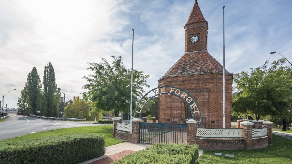 ANZAC memorial in Boorowa, located in the Hilltops region