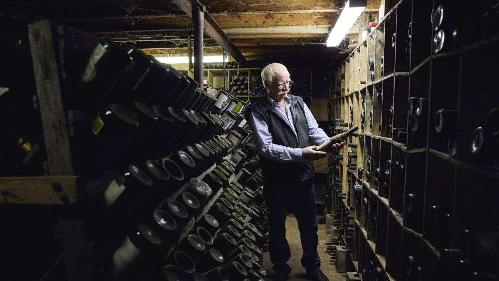 Winemaker Ken Helm in the Helm Wines cellar door in Murrumbateman, Yass Area