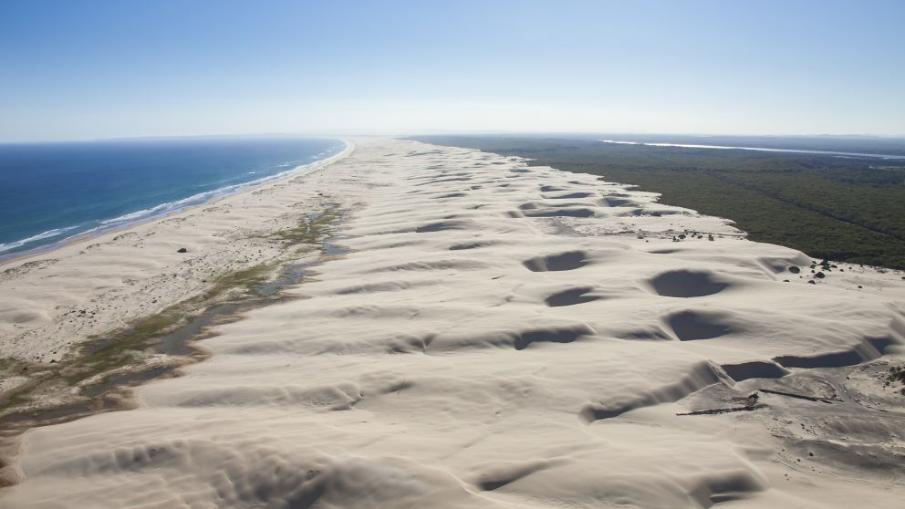 The expansive Stockton Bight Sand Dunes, Port Stephens
