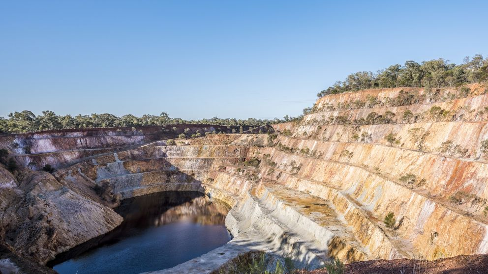 The Peak Hill Open Cut Gold Mine in Parkes Shire