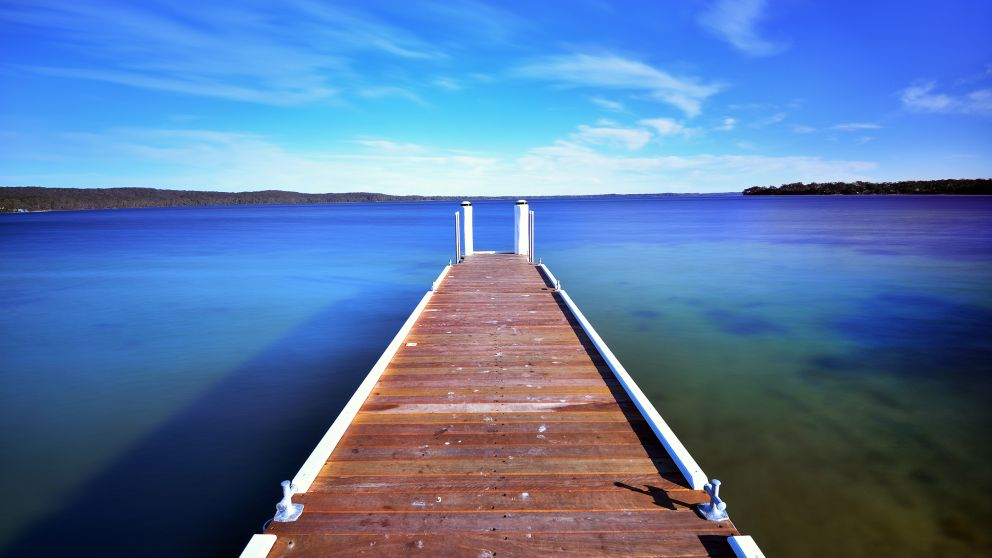 Jetty in St Georges Basin, Shoalhaven