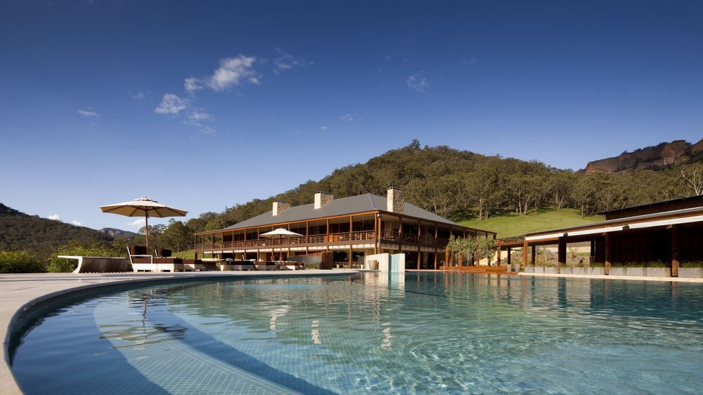 Exterior view of the Emirates One&Only Wolgan Valley, Blue Mountains