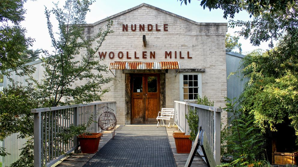 Entrance to the Nundle Woollen Mill, Nundle