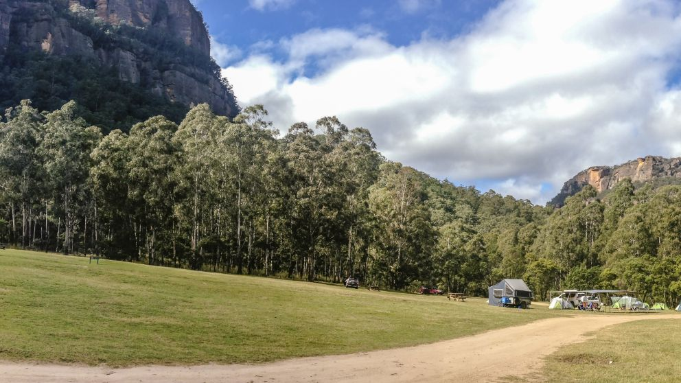 Newnes Campground, free camp site near the Wolgan River