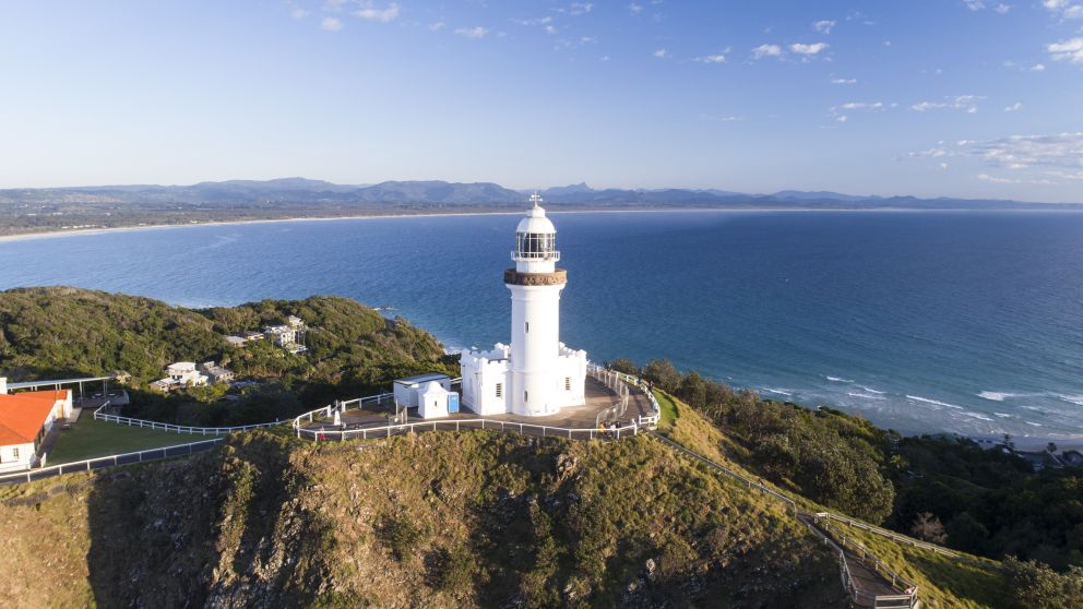 Cape Byron Lighthouse sitting on Australia's most easterly point, Byron Bay, North Coast
