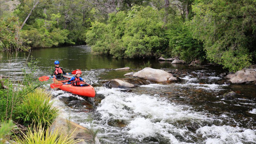 Canoeing the Barrington River with Barrington Outdoor Adventures