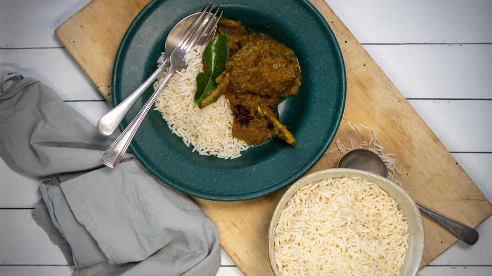 Rich Malaysian flavours come together with local lamb for this warming lamb rendang. Image Credit: Taste of Australia with Hayden Quinn