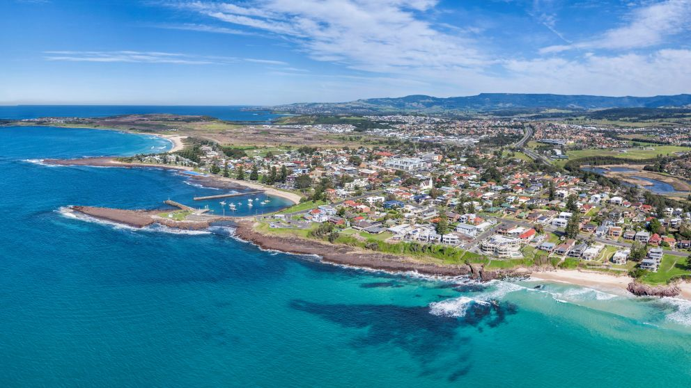 Aerial overlooking the city of Shellharbour, South Coast - Credit: Above Down Under by Kramer Photography