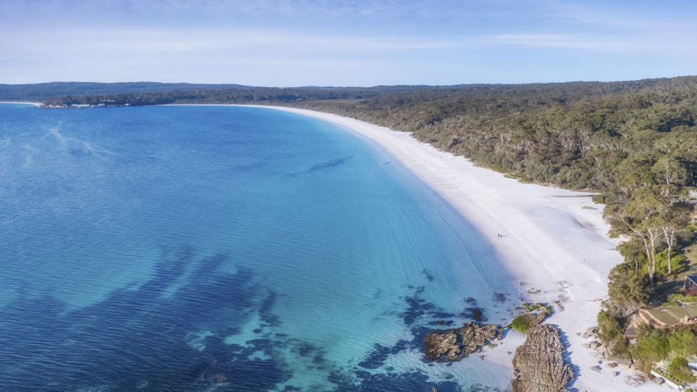 Hyams Beach in Jervis Bay, South Coast
