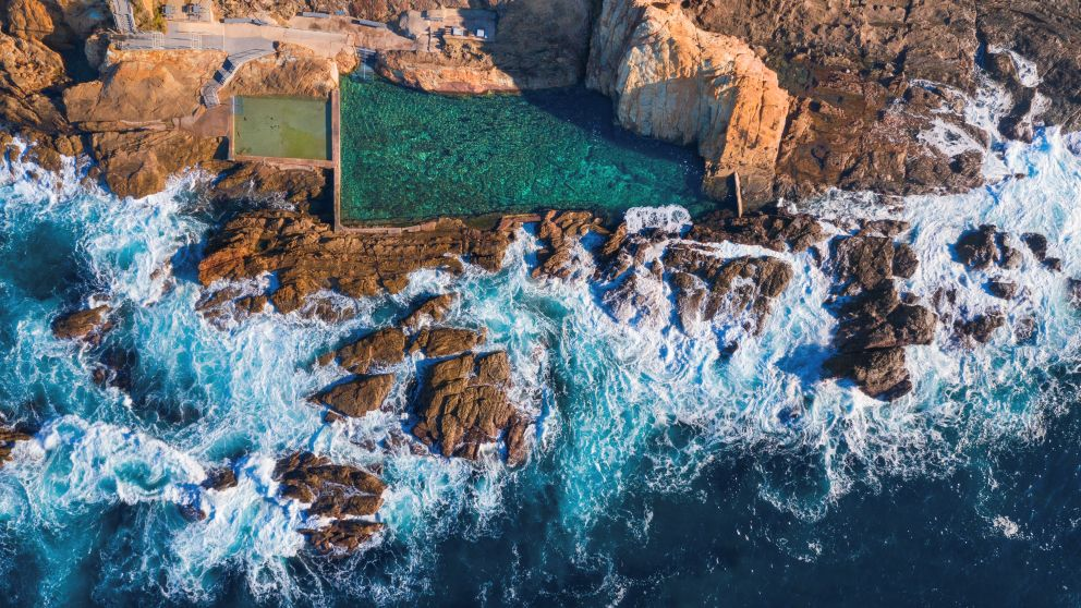 The picturesque Blue Pool situated along the Bermagui coastline, Sapphire Coast