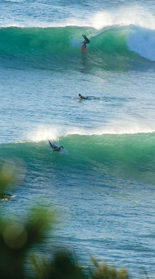 Surfing at Angourie, Yamba - NSW North Coast
