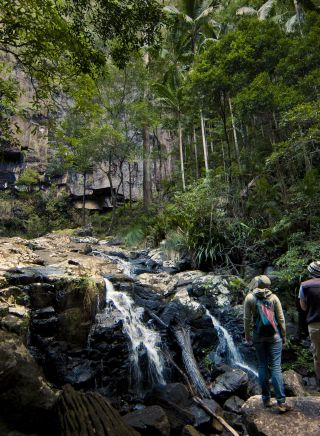 Couple at Protesters Falls, Nightcap National Park, Northern Rivers