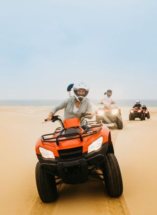 Quad Biking on Stockton Dunes, Port Stephens