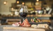 Red wine and antipasto, Bendooley Estate in Berrima, Southern Highlands