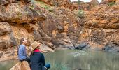Mother and daughter appreciating the Mutawintji National Park in Outback NSW