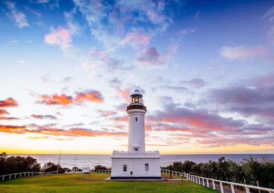 Heritage-listed Norah Head Lighthouse, on the NSW Central Coast