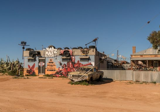Exterior view of the Mad Max 2 Museum, Silverton, Outback NSW